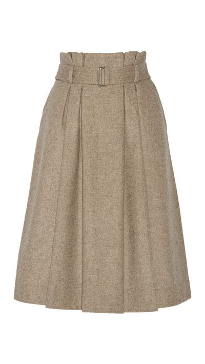 "<a href=""http://www.net-a-porter.com/au/en/product/491576"">Lollila Pleated Wool-Blend Skirt, $327.57, By Malene Birger</a>"