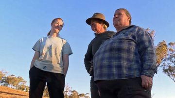 Laura Jones (left) and her family are among hundreds of Australian farming families battling a once in a century drought.