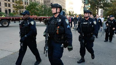 """President Donald Trump was briefed on the attack and sent out a fiery tweet. """"In NYC, looks like another attack by a very sick and deranged person. Law enforcement is following this closely. NOT IN THE U.S.A.!"""" he wrote. (AP)"""