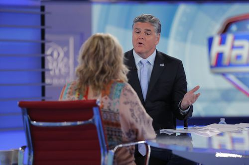 Hannity repeatedly urged Barr to apologise to Jarrett on air. The comedian eventually did. Picture: AP