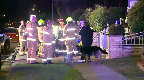 In a separate incident, another family was dragged from their Chipping Norton home by police officers who noticed smoke billowing from inside. Picture: 9NEWS.