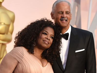 Oprah Winfrey and Stedman Graham on the red carpet at the 2015 Academy Awards.