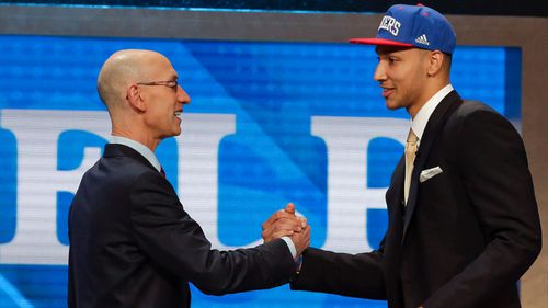 Simmons was picked first overall by the 76ers in the 2016 draft. (AAP)