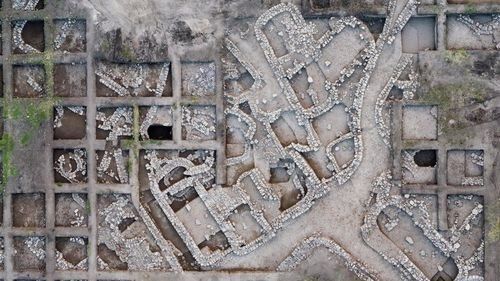 The site was discovered on top of an even older, 7,000-year-old settlement, uncovered in excavations below the city's houses. Thousands of teenagers and volunteers helped in the excavation.