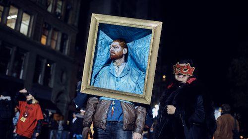 A man dressed as Van Gough. (AP)
