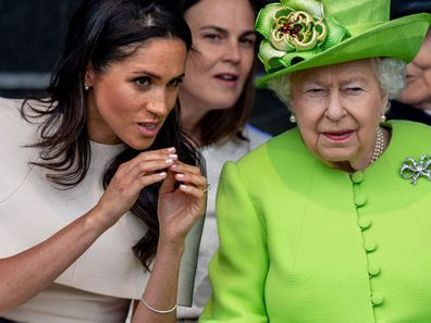 """Meghan Markle reportedly had a """"dressing down"""" by the Queen."""