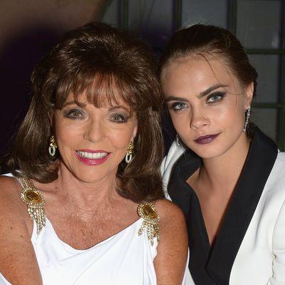 Cara Delevingne and godmother Joan Collins