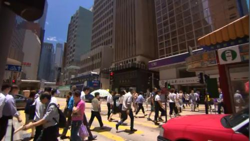 Real estate is booming in Hong Kong. (9NEWS)