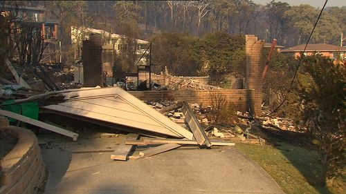 At least 69 homes were razed by the fire. Picture: 9NEWS