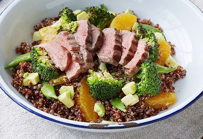 Grilled lamb and quinoa salad