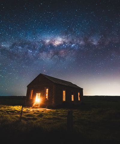 Night sky above rural property in Mid Murray region