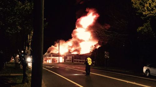 Evacuations as fire tears through NSW tyre service centre