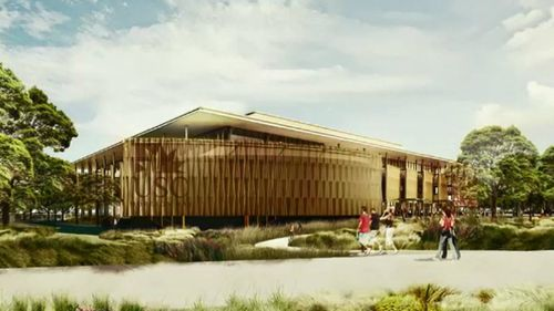An artist's impression of the new campus.