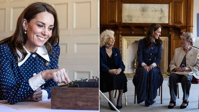 8716acad201bb The Duchess of Cambridge visits Bletchley Park