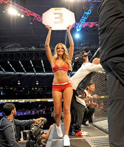 Ring girls bring a little glamour to the octagon.