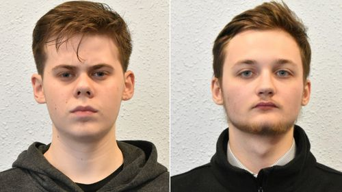 British men Oskar Dunn-Koczorowski, left, and Michal Szewczuk were members of British neo-Nazi group Sonnenkrieg Division; both were sentenced by a British court in 2019.