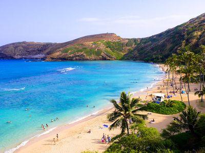 6. Hanauma Bay, Hawaii, USA - 345 pictures per metre