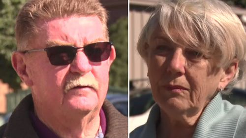 Alex and Patricia Dengate were traumatised when the saw the fatal accident. Picture: 9NEWS