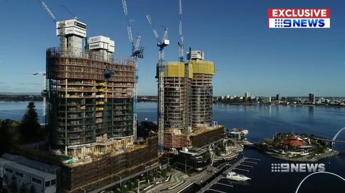 The multi-million dollar luxury apartments will be joined by the Ritz Carlton Hotel. Picture: 9NEWS