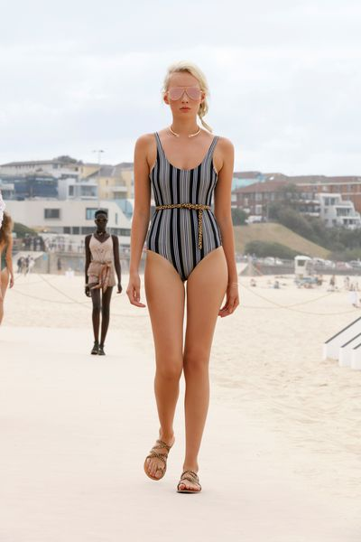 "Swimsuit: Atmos &amp; Here, $49.95 at <a href=""http://www.theiconic.com.au/palm-thin-strap-one-piece-387441.html "" target=""_blank"">The Iconic</a>&nbsp;<br> Belt: Status Anxiety, $49.95 at <a href=""http://www.theiconic.com.au/never-never-belt-430047.html"" target=""_blank"">The Iconic</a> &nbsp;<br> Shoes: Urge, $99.95 at <a href=""http://www.theiconic.com.au/ruby-398190.html"" target=""_blank"">The Iconic</a>&nbsp;"