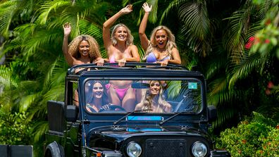 The 'Bomb Sqaud' of five new girls arrived at the Villa on Love Island Australia