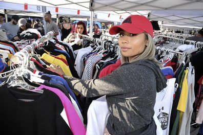 Chris Brown, garage sale, LA, mansion, fans