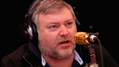 Radio shock jock Kyle Sandilands has launched an impassioned defence of his show's producer Peter Deppeler for a 'MAFS' comment he directed at former Australian cricket captain Steve Smith last week. Picture: Supplied.