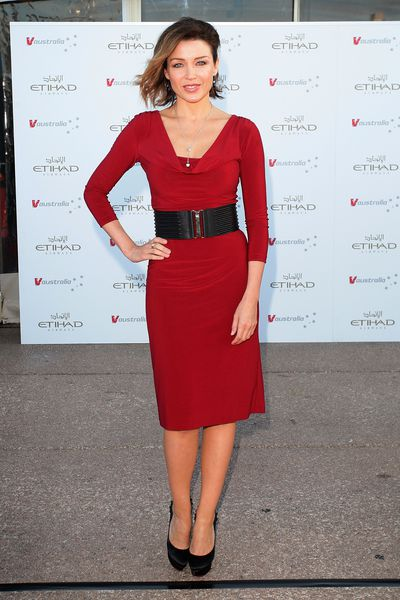 Dannii Minogue at a V Australia and Etihad Airways event in Sydney,  February, 2011