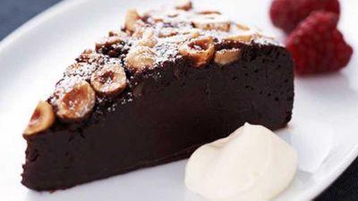 "<a href=""http://kitchen.nine.com.au/2016/06/06/15/42/baked-chocolate-hazelnut-mousse-cake"" target=""_top"">Baked chocolate hazelnut mousse cake</a> recipe"