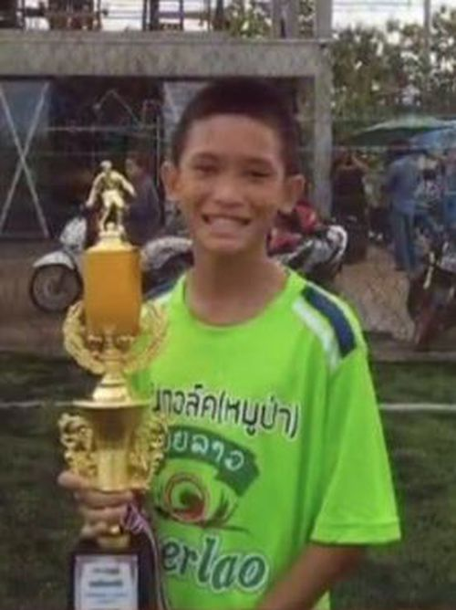 Mongkol Boonpiem, 13, was the first boy to be rescued. Picture: Thaivisa Français