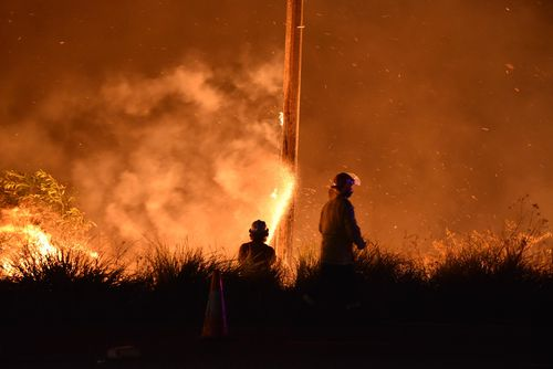At its peak, 150 fire fighters battled the blaze. Picture: 9NEWS