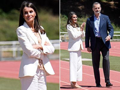 Queen Letizia and King Felipe make first royal appearance without masks, June 2020