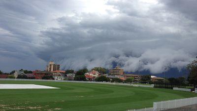 Grey skies grow even darker at Waverley Park Oval. (Supplied, Lee Szlachetka)