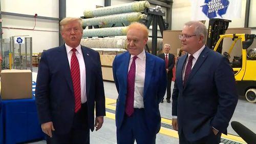 Donald Trump, Anthony Pratt and Scott Morrison tour the Aussie billionaire's Ohio factory.