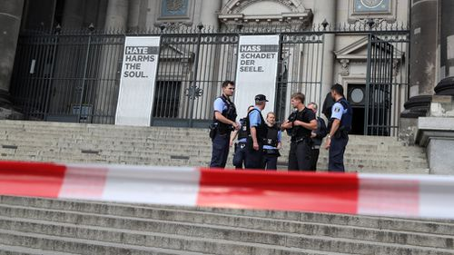 Cathedral employees called police and safely escorted about 100 visitors out of the holy site. Picture: EPA