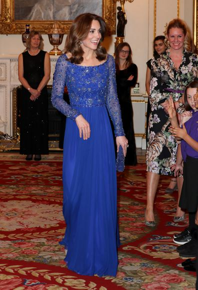 Kate Middleton hosts palace reception wearing 2016 gown, hours after attending event with Meghan and Harry