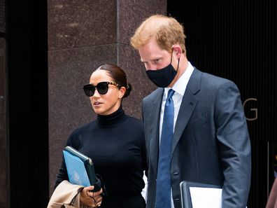 Harry and Meghan mid town New York