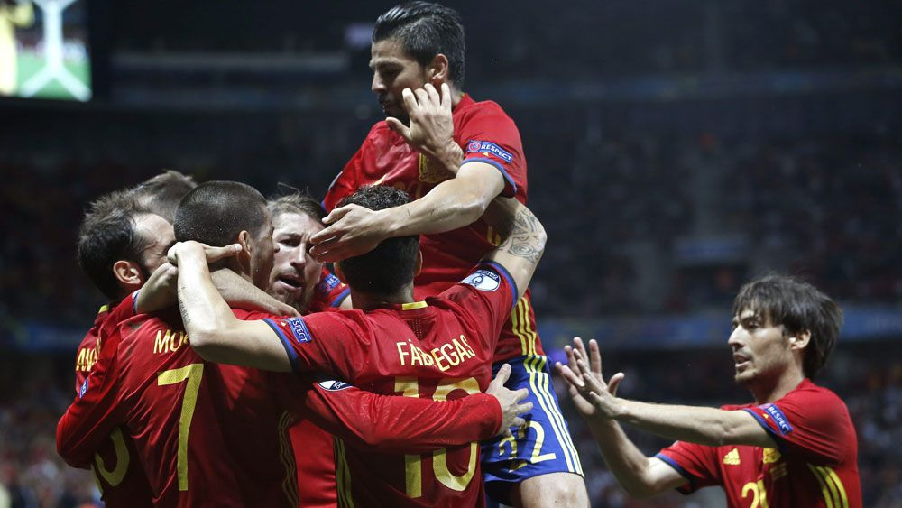 Morata double gives Spain win over Turkey