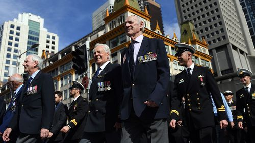 Veterans and war widows are entitled to free travel on Anzac Day.