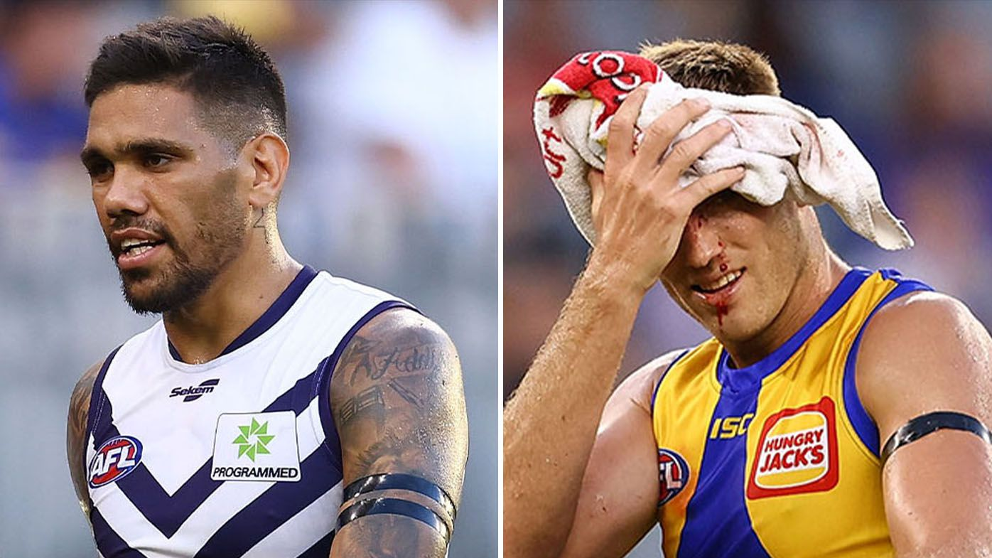 West Coast, Fremantle hit with 'absolute carnage on the injury front' in pre-season derby