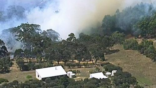 Smoke billowing from the grassfire last Wednesday. (9NEWS)