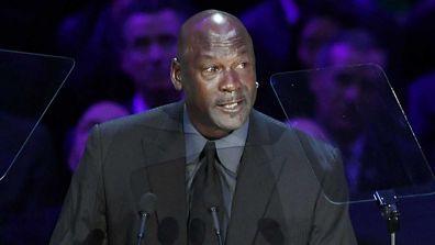 Michael Jordan speaks during The Celebration of Life for Kobe & Gianna Bryant at Staples Center on February 24, 2020.