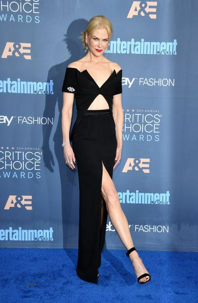 <p><strong>Nicole Kidman 1</strong></p> <p>At the 22nd Critics Choice Awards in Santa Barbara, 2016, Kidman put her leg out in Brandon Maxwell.</p>