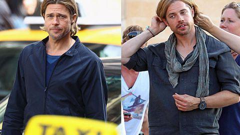 Brad Pitt and his stunt double