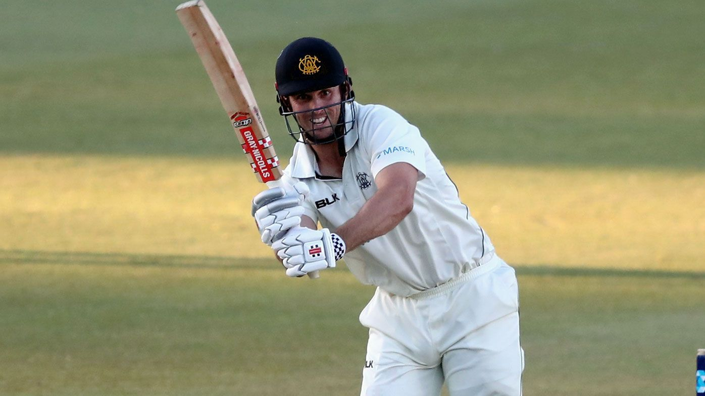 Mitchell Marsh of Western Australia batting during the Marsh Sheffield Shield cricket match