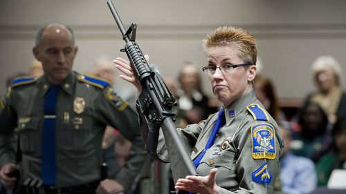 The Bushmaster AR-15 rifle has been used in multiple mass shootings in the US, including at Sandy Hook.