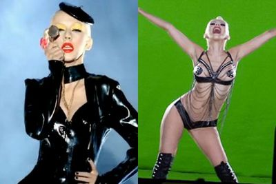 ...but she got slammed hard for the Gaga-esque looks she rocked after the release of her <i>Bionic</i> album.