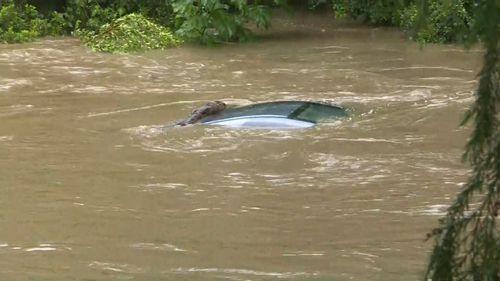 Cars were submerged on the Sunshine Coast.
