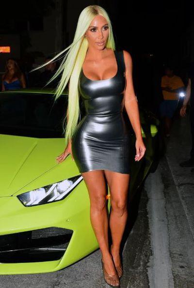 <p>Kim Kardashian in Miami, August 2018</p>