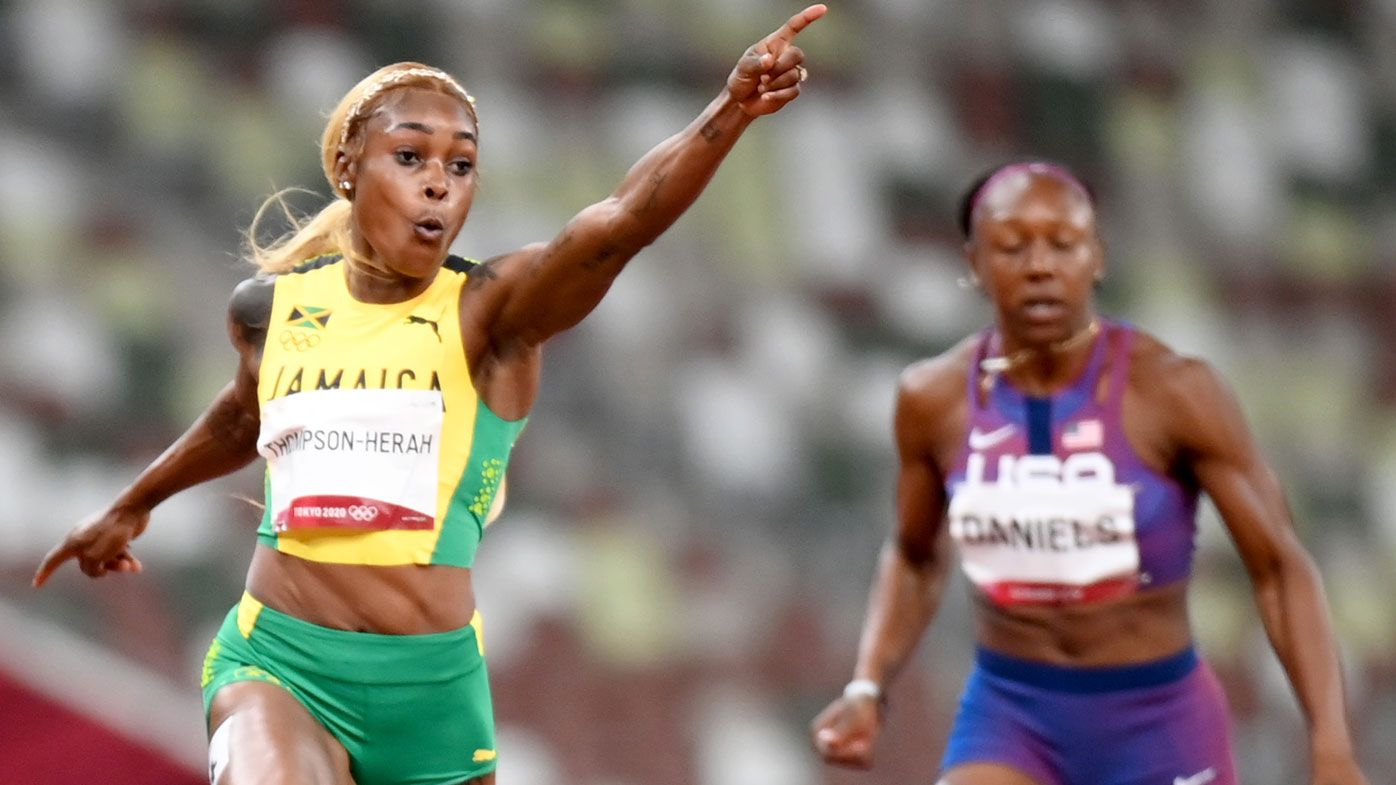 Elaine Thompson-Herah breaks 33-year-old Olympic record in women's 100m final